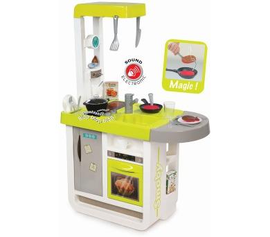 Kuchyňka Bon Appetit Cherry zeleno-šedá elektronická + DOPRAVA ZDARMA