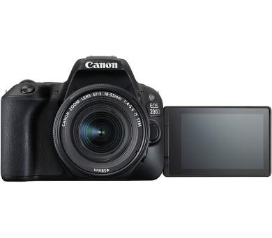 Canon EOS 200D Black + EF-S 18-55 f/3.5-5.6 DC III SELEKCE SIP