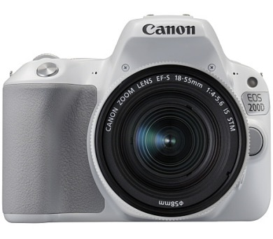 Canon EOS 200D WHITE + EF-S 18-55 f/4-5.6 IS STM SELEKCE SIP + brašna