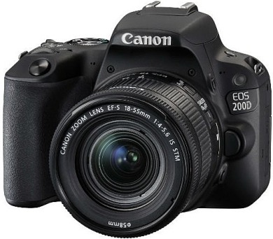 Canon EOS 200D Black + EF-S 18-55 IS STM + EF 50/1,8 STM