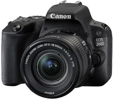 Canon EOS 200D Black + EF18-55STM CP + EF 50/1,8STM