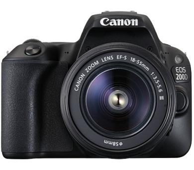 Canon EOS 200D Black + EF-S 18-55 DC + EF 75-300 DC SELEKCE SIP