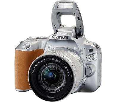 Canon EOS 200D SILVER + EF-S 18-55 f/4-5.6 IS STM SELEKCE SIP + brašna
