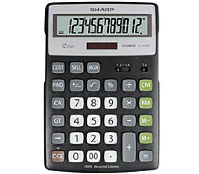 SHARP kalkulačka - ELR297BBK - blister