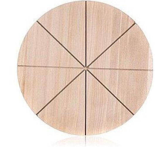 Prkénko krájecí dřevěné na pizzu BRILLANTE 32 x 1,5 cm