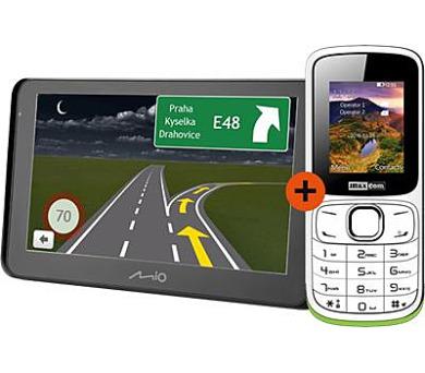 MIO Spirit 8500 GPS navigace + telefon Maxcom Classic MM129DS