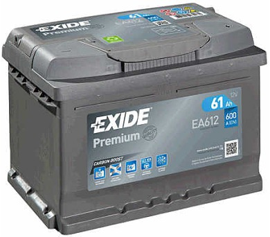 Exide 12V 61Ah EA612