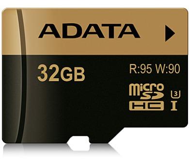 ADATA MicroSDHC 32GB U3 až 95/90MB/s