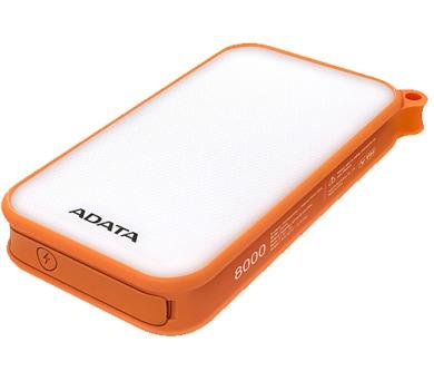 ADATA D8000L Power Bank 8000mAh oranžová - outdoor LED svítilna