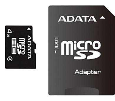 ADATA 4GB MicroSDHC Card+USB micro reader Class 4 (AUSDH4GCL4-RM3BKBL)