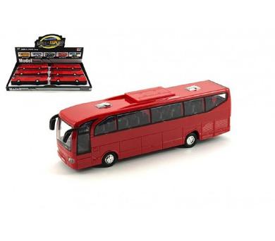 Autobus plast 23cm na setrvačník se zvukem se světlem 6ks v boxu