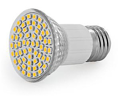 WE LED žárovka 60xSMD 3W E27 teplá bílá - refl