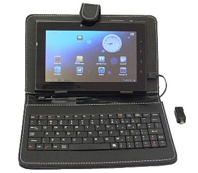 """Eaget F7B 7"""" černé pouzdro s klávesnicí pro 7mi palcový tablet"""