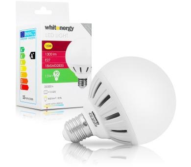 WE LED žárovka SMD2835 G95 E27 15W bílá mléčná