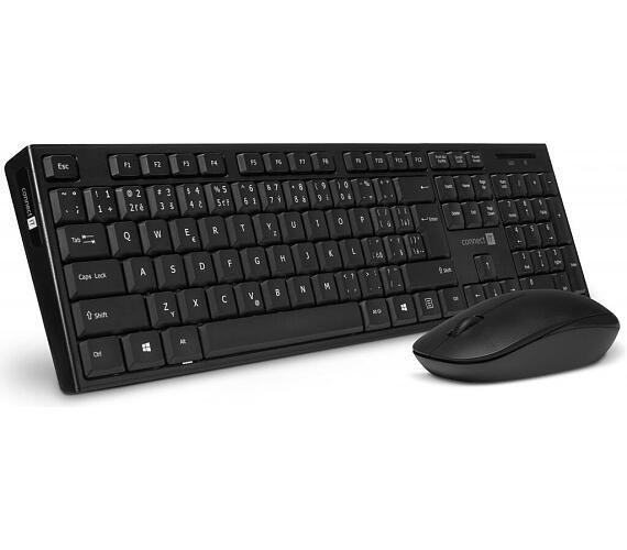 Connect IT Combo bezdrátová černá klávesnice + myš