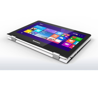 "Lenovo YOGA 300-11IBR Pentium-QC N3710 2,56GHz/4GB/500GB/11,6"" HD/multitouch/WIN10 bílá 80M100SKCK"