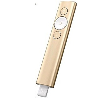 Logitech® BT/WL Presenter SPOTLIGHT - EMEA - GOLD (910-004862) + DOPRAVA ZDARMA