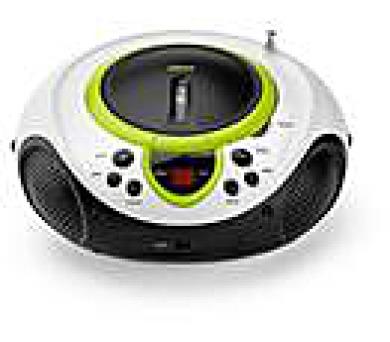 LENCO SCD-38 USB Green - přenosný CD/MP3 přehrávač