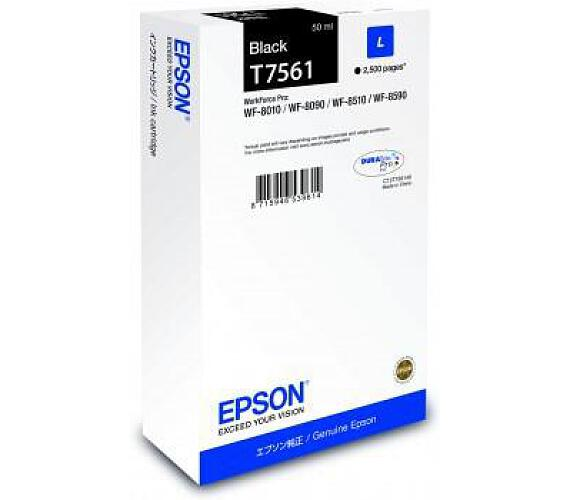 Epson inkoust WF8000 series black L - 50ml (C13T756140) + DOPRAVA ZDARMA