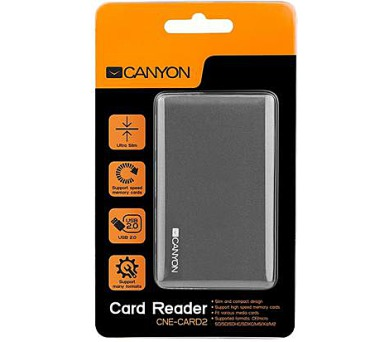CANYON CardReader All in one CNE-CARD2 (CF/micro SD/SD/SDHC/SDXC/MS/Xd/M2) USB 2.0