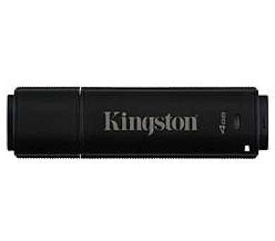 Kingston flash disk 4GB DT 4000 G2 256-bit AES šifrování USB 3.0 (čtení/zápis: 80/12MB/s) černý