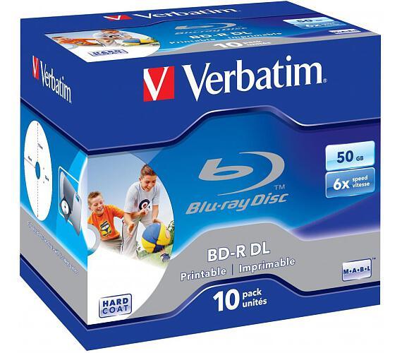 Verbatim BD-R DL 50GB 6x WIDE PRINTABLE BOX 10pck/BAL (SKVERB43736)