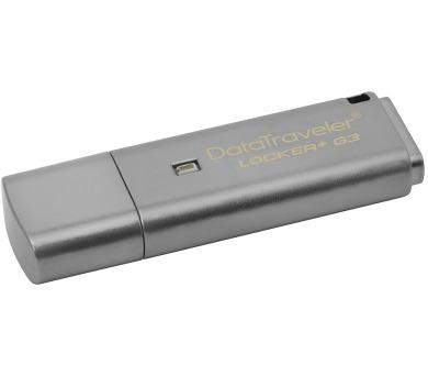 Kingston flash disk 32GB DT Locker+ G3 šifrovaný USB 3.0 (čtení/zápis: 135/40MB/s) šedý