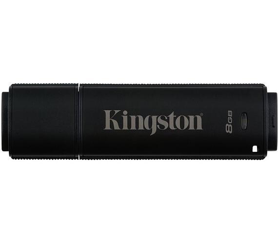 Kingston flash disk 8GB DT 4000 G2 256-bit AES šifrování USB 3.0 (čtení/zápis: 165/22MB/s) černý