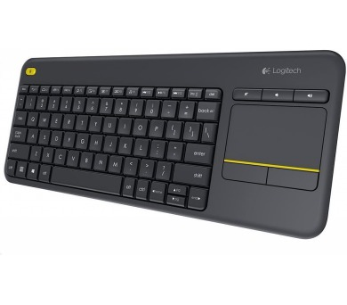 Logitech® Wireless Touch Keyboard K400 Plus - INTNL - UK layout - Black