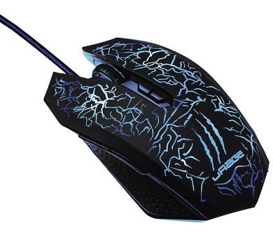 HAMA uRage Illuminated2 gamingová myš/ drátová/ optická/ podsvícená/ 3000 dpi/ 7 tlačítek/ USB/ černá (113757)