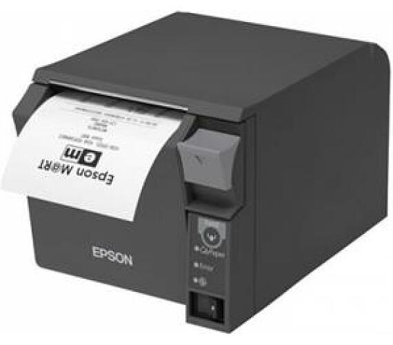 EPSON pokl.termo TM-T70II,tmavá,ether.+USB,zdroj + DOPRAVA ZDARMA