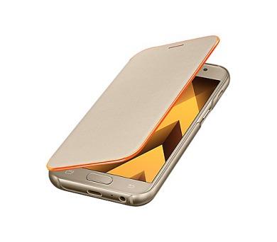 Samsung Flipové neonové pouzdro pro A3 2017 Gold + DOPRAVA ZDARMA