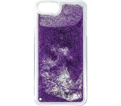 Guess Liquid Glitter Hard Pouzdro Triange Purple pro iPhone 6/6S/7 Plus