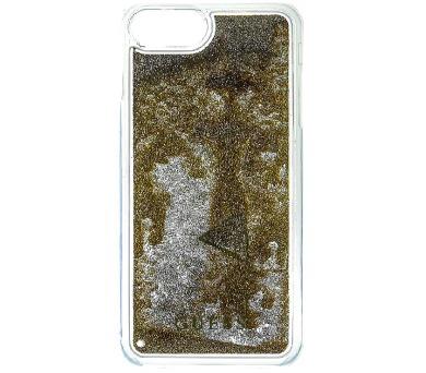 Guess Liquid Glitter Hard Pouzdro Triange Gold pro iPhone 6/6S/7 Plus