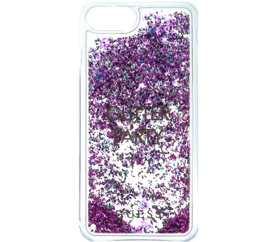 Guess Liquid Glitter Hard Pouzdro Party Purple pro iPhone 6/6S/7 Plus