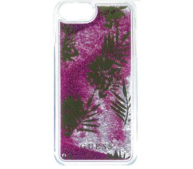 Guess Liquid Glitter Hard Pouzdro Palm Spring Rose pro iPhone 6/6S/7 Plus