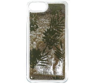 Guess Liquid Glitter Hard Pouzdro Palm Spring Gold pro iPhone 6/6S/7 Plus