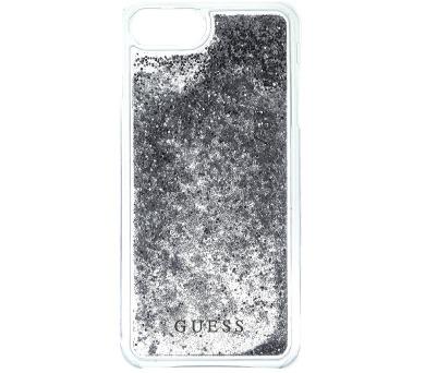 Guess Liquid Glitter Hard Pouzdro Silver pro iPhone 6/6S/7 Plus