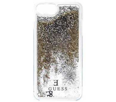 Guess Liquid Glitter Hard Pouzdro Gold pro iPhone 6/6S/7 Plus