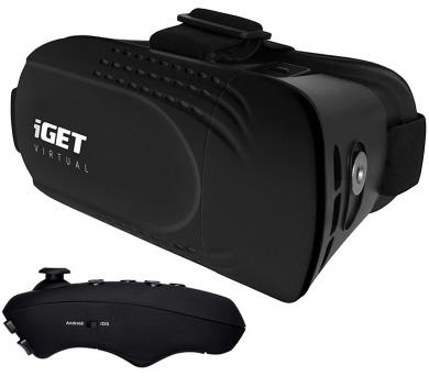 iGET Virtual R2 - VR brýle + BT dálkový ovladač + DOPRAVA ZDARMA