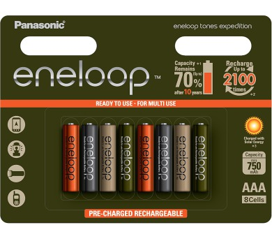 HR03 AAA 4MCCE/8RE 750mAh Expedition pac Panasonic
