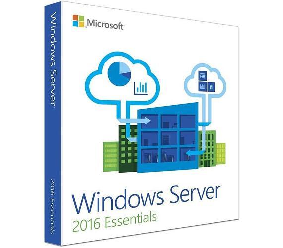 HPE MS Windows Server 2016 Essentials Edition 1-2P Reseller Option Kit CZ (25user/50dev) (871141-221)