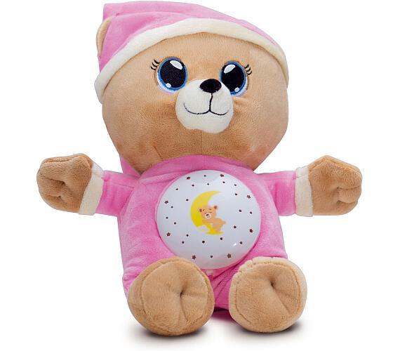 Medvídek Usínáček růžový plyš 32cm na baterie se světlem a zvukem v boxu 12m+ + DOPRAVA ZDARMA