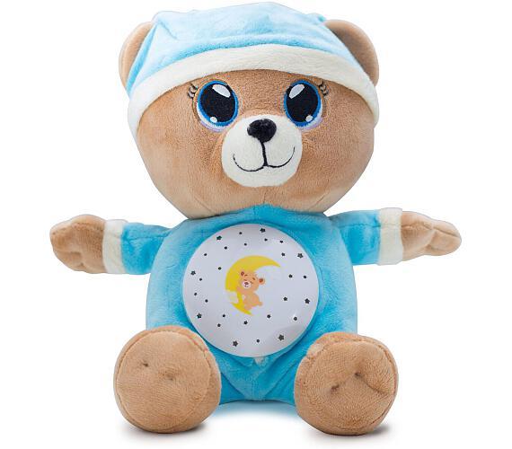 Medvídek Usínáček modrý plyš 32cm na baterie se světlem a zvukem v boxu 12m+ + DOPRAVA ZDARMA