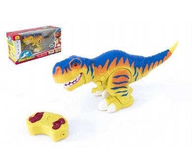 Dinosaurus chodící RC plast 38cm na baterie se zvukem se světlem 2,4GHz v krabici + DOPRAVA ZDARMA