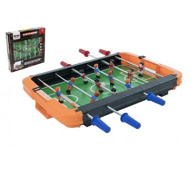 Kopaná/Fotbal stolní kovová táhla v krabici 44x43x7cm