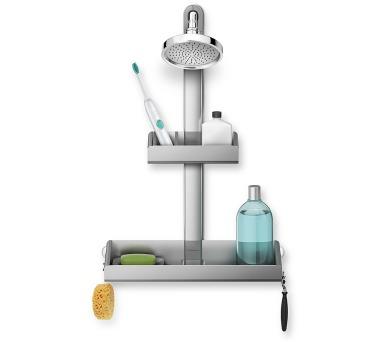 Simplehuman Shower Shelf – set poliček a držáku do sprchy + DOPRAVA ZDARMA
