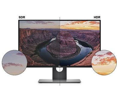 """Dell UltraSharp U2718Q 27""""/ 3840x2160/1000:1/5ms/HDMI/DP/mDP/USB 3.0/IPS panel/cerny"""