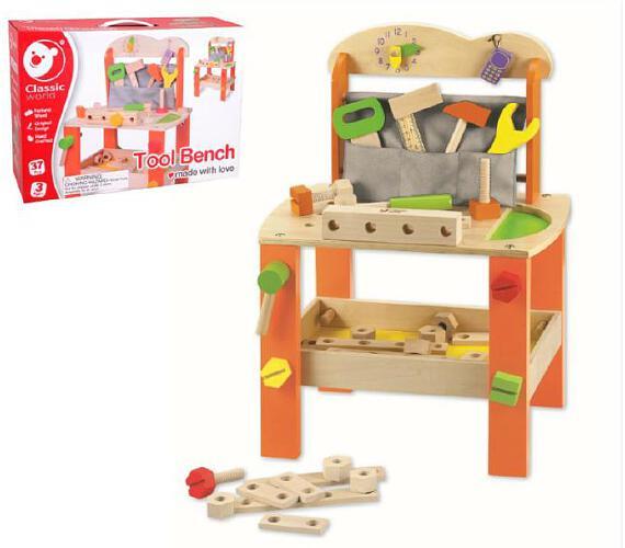 Stůl/Ponk s nářadím dřevo 38ks 40x56x28cm v krabici 42x30x13cm + DOPRAVA ZDARMA