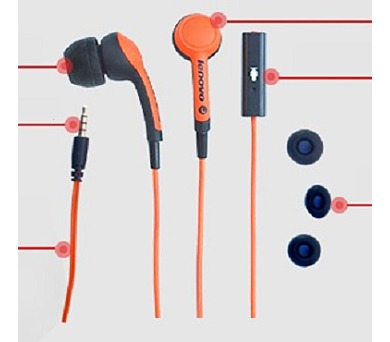 Lenovo Idea sluchátka In-Ear Headset P165 Orange = oranžová (888016077)